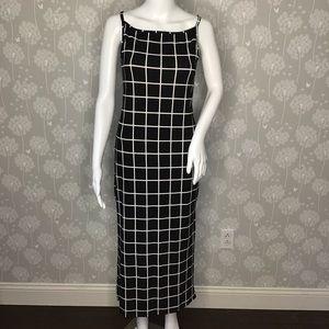 Velvet Torch Dress Size Medium Black White
